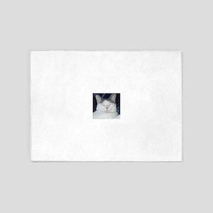 Zen kitty 5'x7'Area Rug