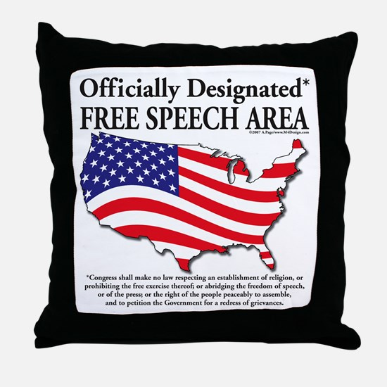 Funny Freedom speech Throw Pillow