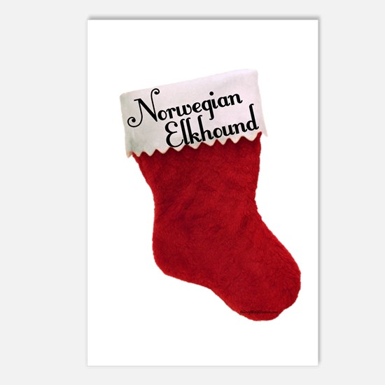Elkhound Stocking Postcards (Package of 8)