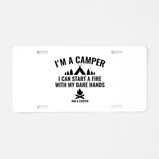 I'm A Camper Aluminum License Plate