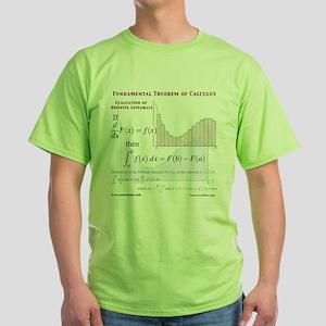 Fundamental Theorem of Calculus Green T-Shirt