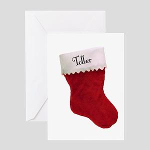 Toller Stocking Greeting Card