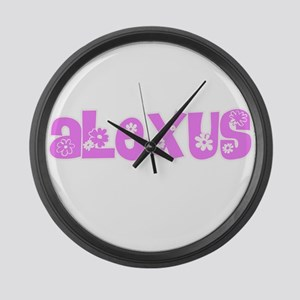 Alexus Flower Design Large Wall Clock