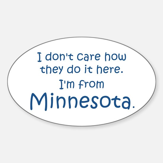 From Minnesota Oval Decal