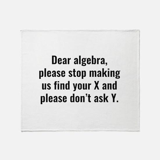 Dear Algebra Stadium Blanket