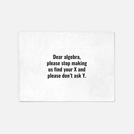 Dear Algebra 5'x7'Area Rug