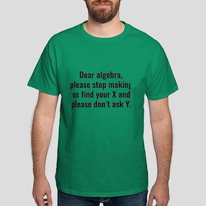 Dear Algebra Dark T-Shirt