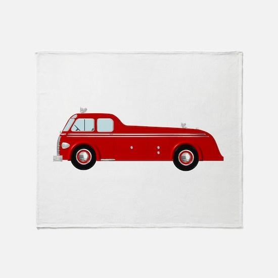 Fire truck simple Throw Blanket