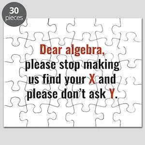Dear Algebra Puzzle