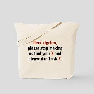 Dear Algebra Tote Bag