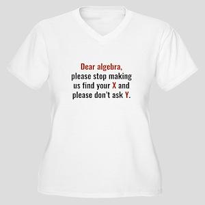 Dear Algebra Women's Plus Size V-Neck T-Shirt