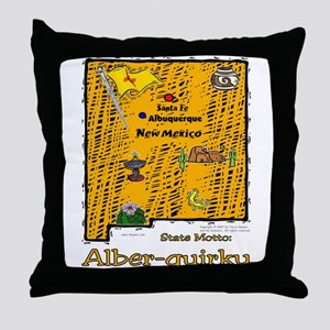 NM-Alber-quirky! Throw Pillow