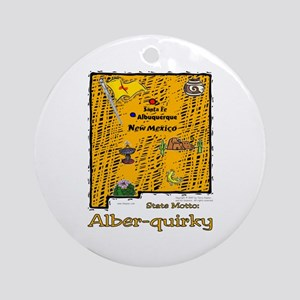 NM-Alber-quirky! Ornament (Round)