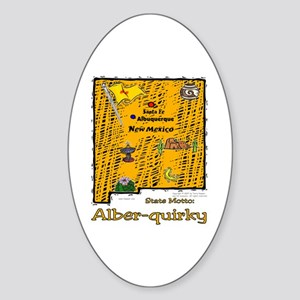 NM-Alber-quirky! Oval Sticker