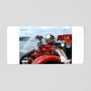 red pumper Aluminum License Plate