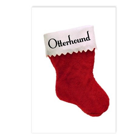 Otterhound Stocking Postcards (Package of 8)