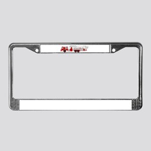 fire truck 2 License Plate Frame