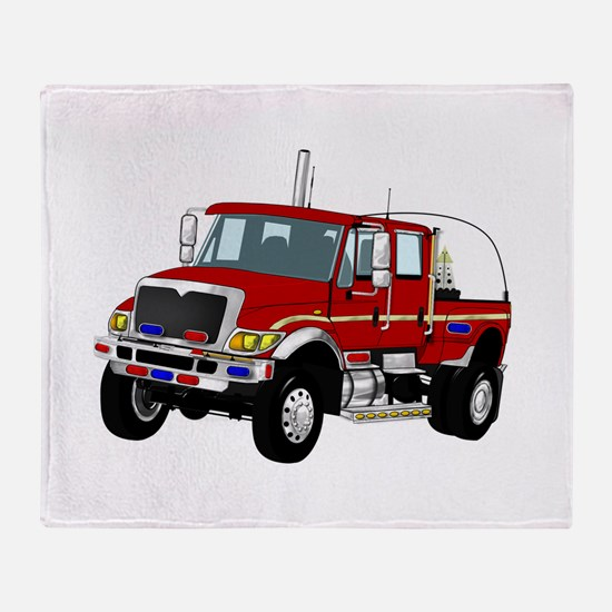 brush truck Throw Blanket
