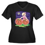 OES Halloween Pumpkin Patch Women's Plus Size V-Ne