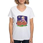 OES Halloween Pumpkin Patch Women's V-Neck T-Shirt