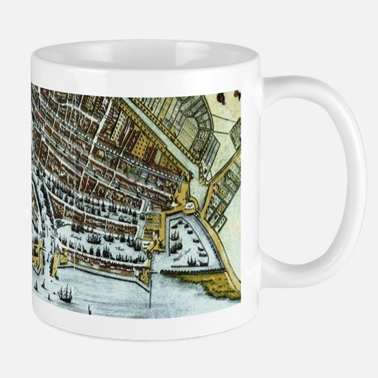 Vintage Map of Rotterdam Netherlands (1649) Mugs