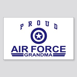 Proud Air Force Grandma Rectangle Sticker
