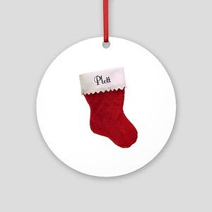 Plott Stocking Ornament (Round)