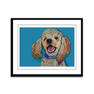 Lil' Poodle Framed Panel Print