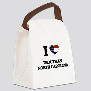 I love Troutman North Carolina Canvas Lunch Bag