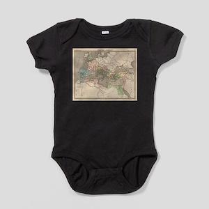 Vintage Map of The Roman Empire (183 Baby Bodysuit