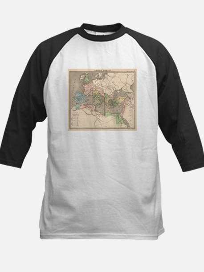 Vintage Map of The Roman Empire (1 Baseball Jersey