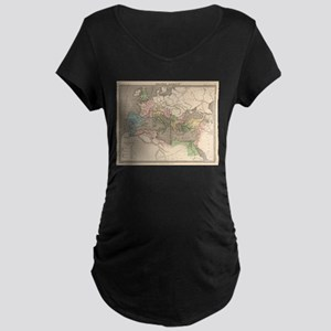 Vintage Map of The Roman Empire Maternity T-Shirt