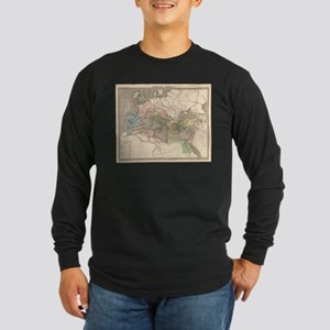 Vintage Map of The Roman Empir Long Sleeve T-Shirt