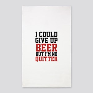I Could Give Up Beer 3'x5' Area Rug