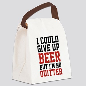 I Could Give Up Beer Canvas Lunch Bag