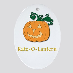 Kate-O-Lantern Oval Ornament