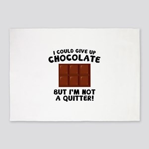 I Could Give Up Chocolate 5'x7'Area Rug