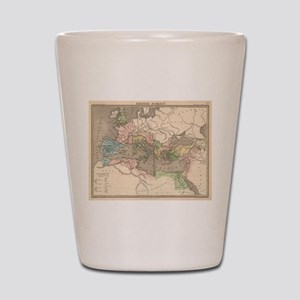 Vintage Map of The Roman Empire (1838) Shot Glass