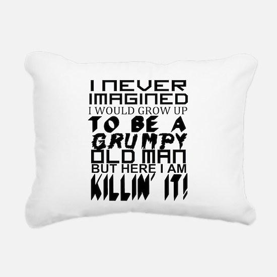 Grumpy Old Man Humor Rectangular Canvas Pillow