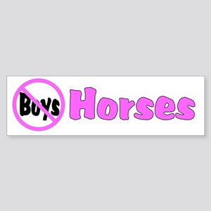 No Boys-Horses Bumper Sticker