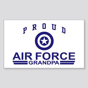 Proud Air Force Grandpa Rectangle Sticker