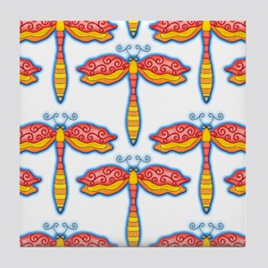 Red Dragonflies by Xen™ Tile Coaster