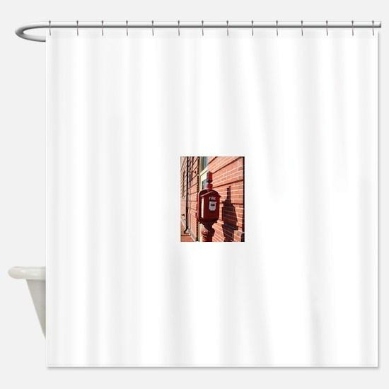 Alarm Box 1 Shower Curtain