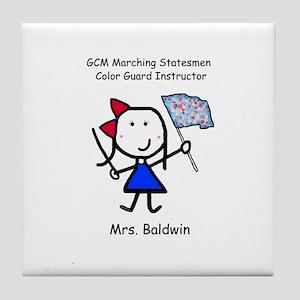 GCM - Mrs. Baldwin Tile Coaster