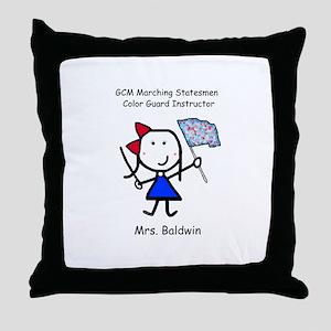GCM - Mrs. Baldwin Throw Pillow