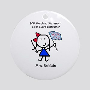 GCM - Mrs. Baldwin Ornament (Round)
