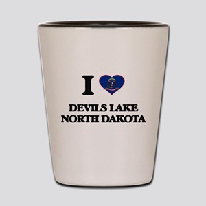 I love Devils Lake North Dakota Shot Glass