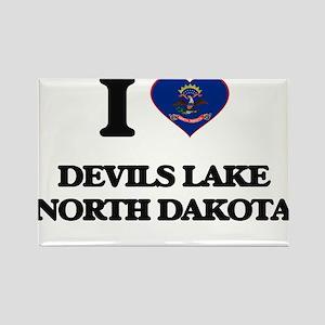 I love Devils Lake North Dakota Magnets