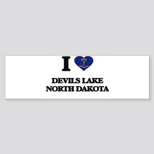 I love Devils Lake North Dakota Bumper Sticker