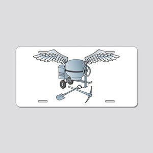 Concrete mixer blue-gray Aluminum License Plate